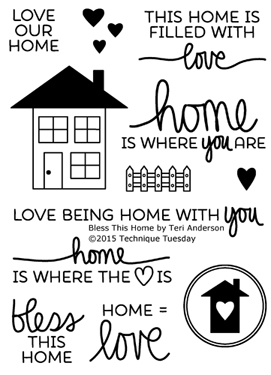 Bless This Home stamp set from TechniqueTuesday.com