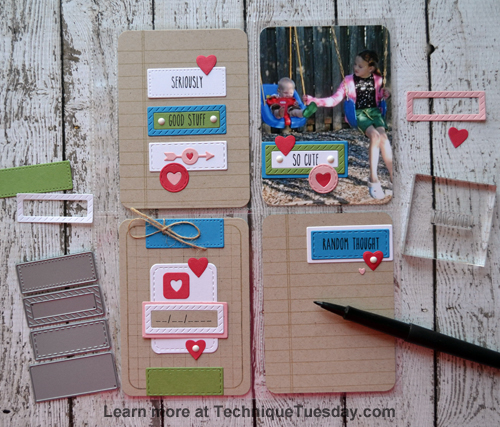 So Cute pocket page from TechniqueTuesday.com