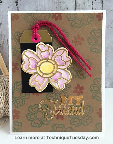 My Friend Flower card by Daniela Dobson