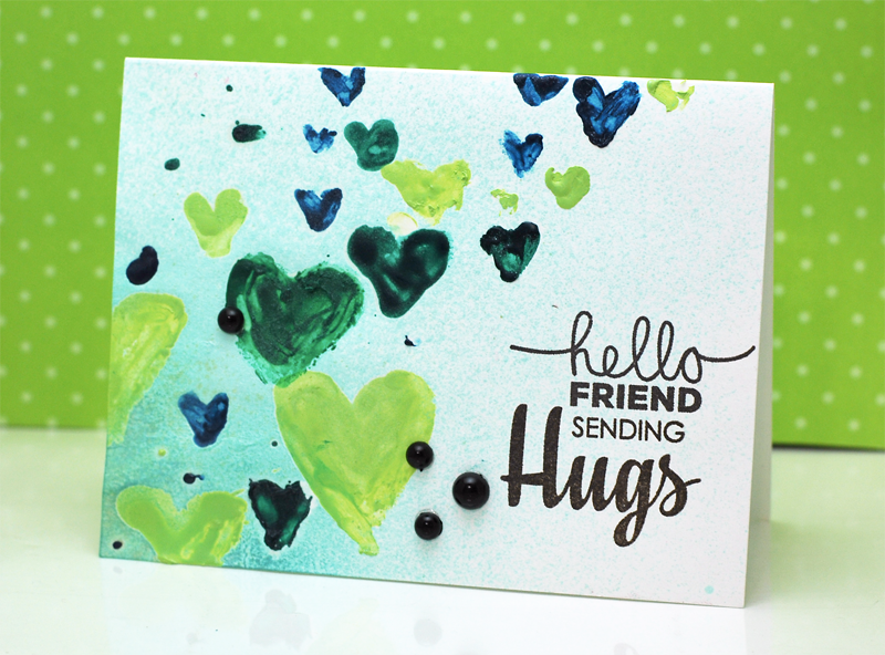 Hello Friends card by Jaclyn Miller for TechniqueTuesday.com
