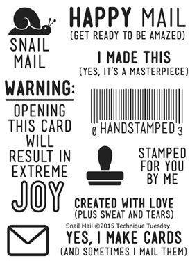 Snail Mail stamp set from TechniqueTuesday.com