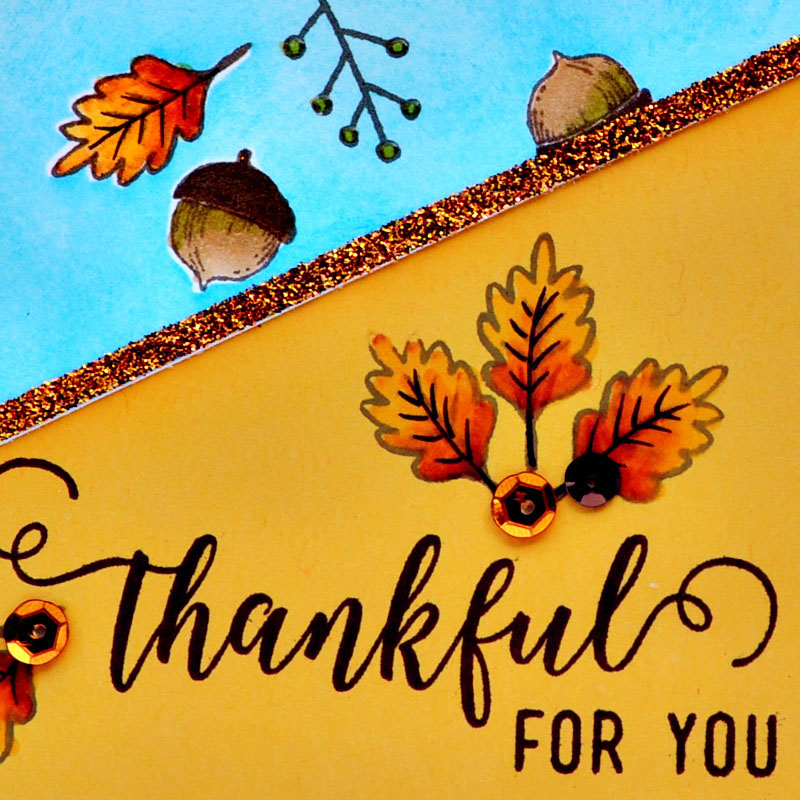 Thankful For You card by Tonya Dirk for TechniqueTuesday.com
