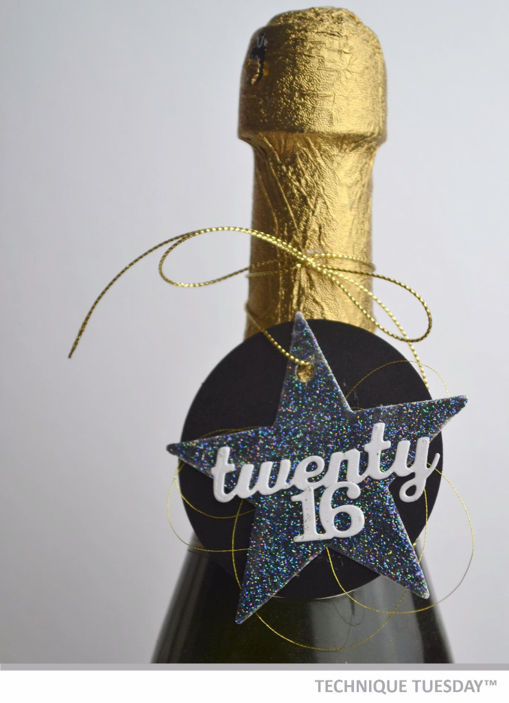 Twenty 16 New Year's Bottle Tag by Technique Tuesday