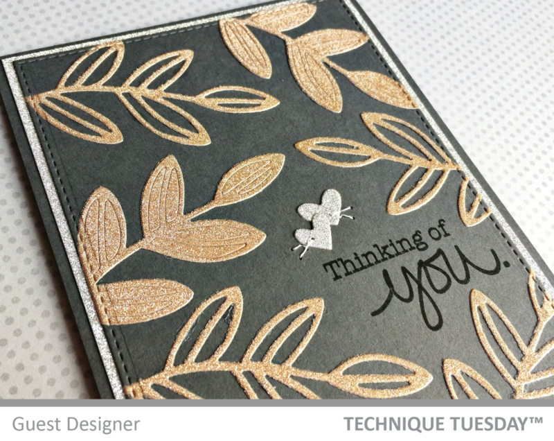 Thinking of You card by Jill Hawkins for Technique Tuesday // TechniqueTuesday.com