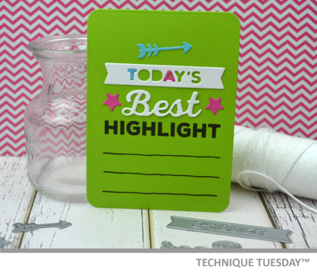 Best Highlight Story Card from Technique Tuesday // TechniqueTuesday.com