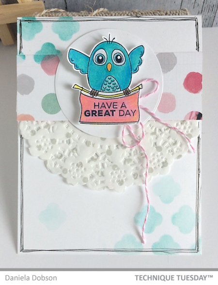 Great Day handmade card by Daniela Dobson for Technique Tuesday // TechniqueTuesday.com
