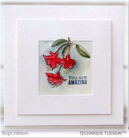 Amazing handmade card by Birgit Edblom for Technique Tuesday // TechniqueTuesday.com