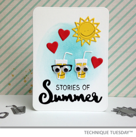 Stories of Summer Story Card from Technique Tuesday // TechniqueTuesday.com
