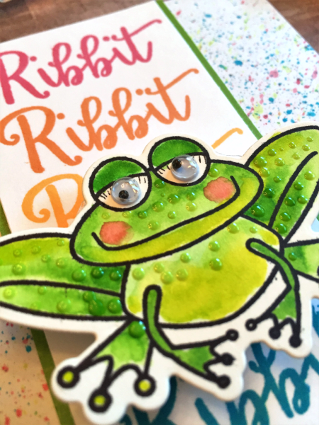 Rainbow Frog handmade card by Jana Millen for Technique Tuesday // TechniqueTuesday.com