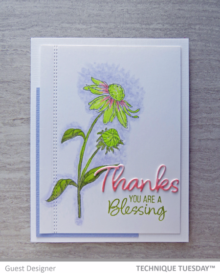 Thanks-Blessing-Flower-Handmade-Card-Michele-F-Technique-Tuesday