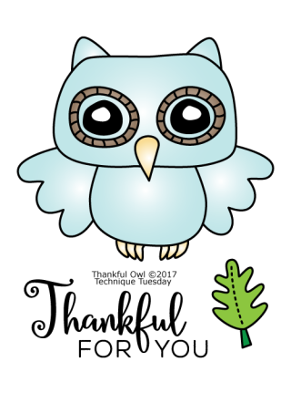 Thankful-Owl-Clear-Stamps-Technique-Tuesday