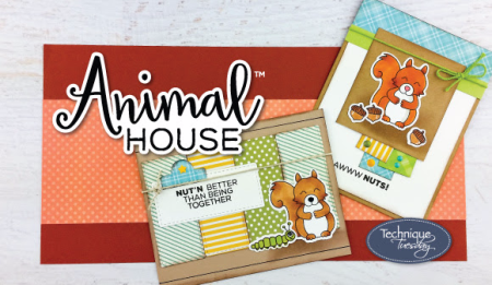 Animal House clear stamps and crafting dies from Technique Tuesday / TechniqueTuesday.com