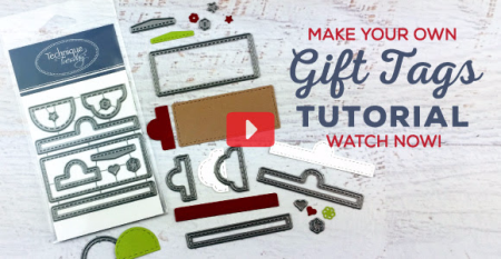 Gift Tags Tutorial from TechniqueTuesday.com