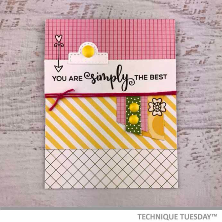 Simply-The-Best-Pink-Tab-Handmade-Card-Teri-A-Technique-Tuesday