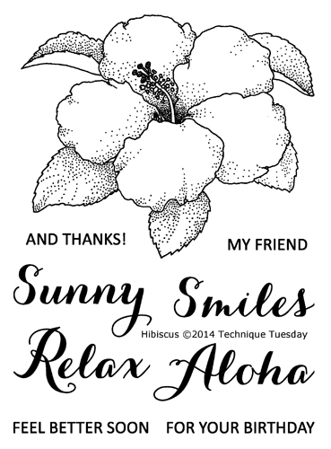 Technique-Tuesday-Hibiscus-Clear-Stamps-Large