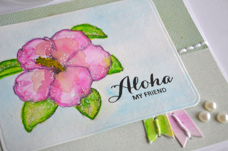A card made with clear stamps from Technique Tuesday