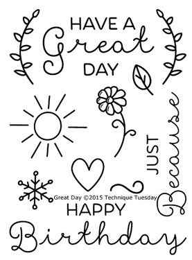 Great Day stamp set from TechniqueTuesday.com