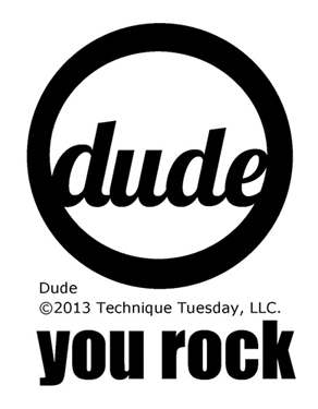 Dude clear stamp set from TechniqueTuesday.com