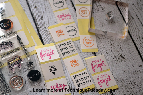 Custom Planner Stickers from TechniqueTuesday.com