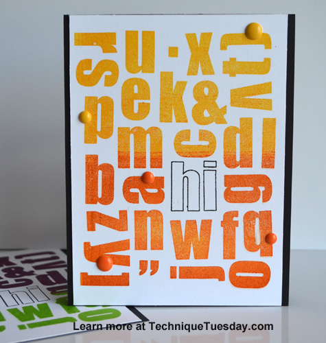 Hi Letters card from TechniqueTuesday.com