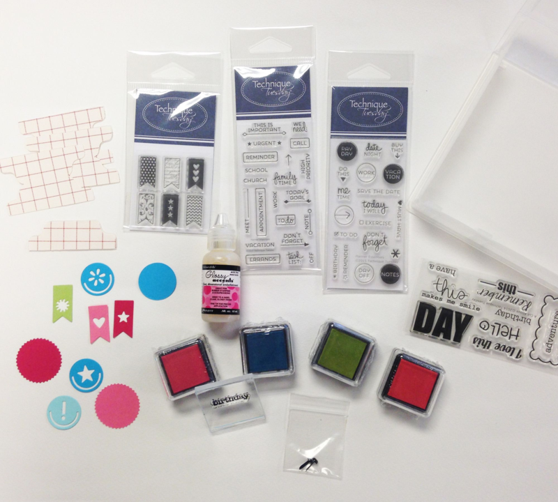 Planner kit from TechniqueTuesday.com