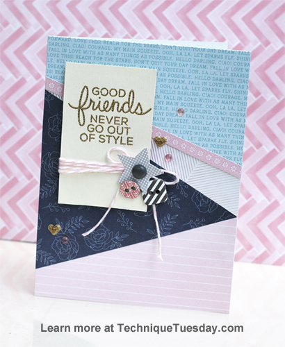 Good Friends card by Jaclyn Miller