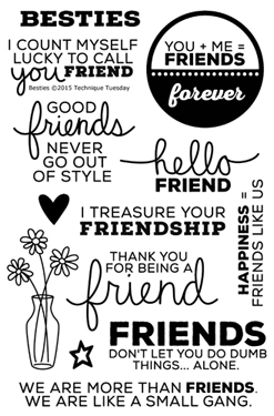 Besties stamp set from TechniqueTuesday.com