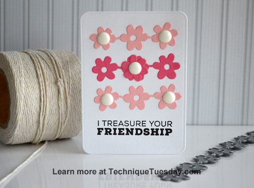 Friendship Flowers Story Card from TechniqueTuesday.com