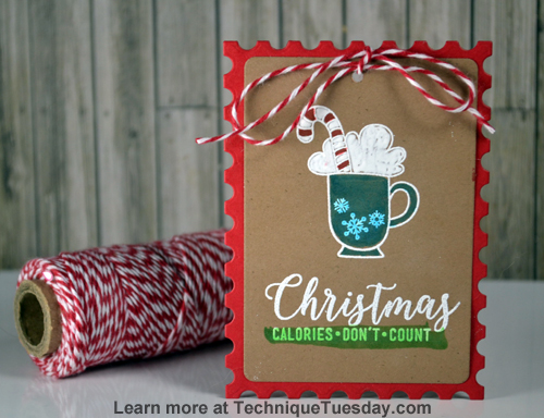 Christmas Calories Story Card from TechniqueTuesday.com