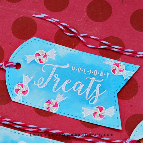 Christmas Treats Tags by Tonya Dirk for TechniqueTuesday.com