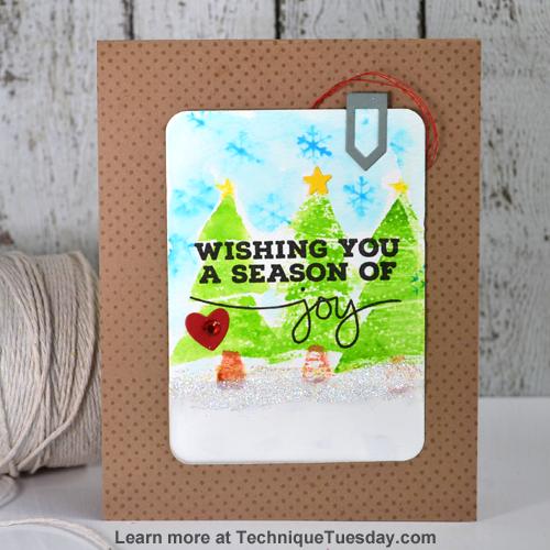 Season of Joy card for TechniqueTuesday.com