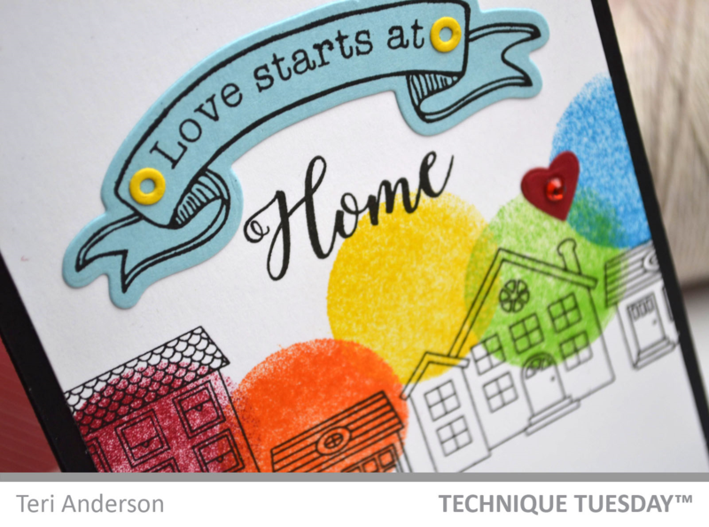 Love Starts card by Teri Anderson for Technique Tuesday
