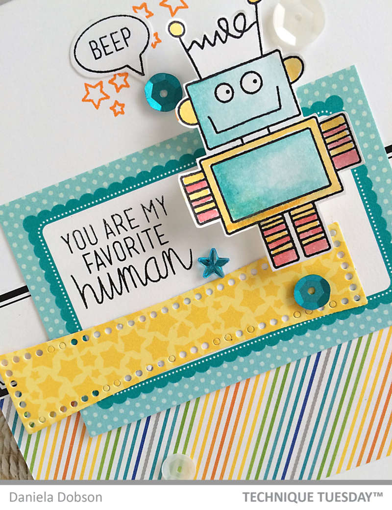 Favorite Human by Daniela Dobson for Technique Tuesday