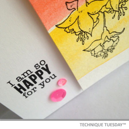 A handmade card from Technique Tuesday // TechniqueTuesday.com