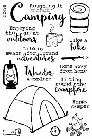 Gone Camping clear stamp set from Technique Tuesday // TechniqueTuesday.com