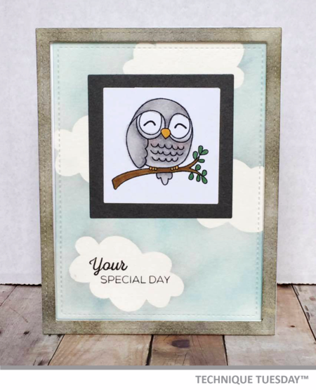 Handmade card by Ashley Gray for Technique Tuesday // TechniqueTuesday.com