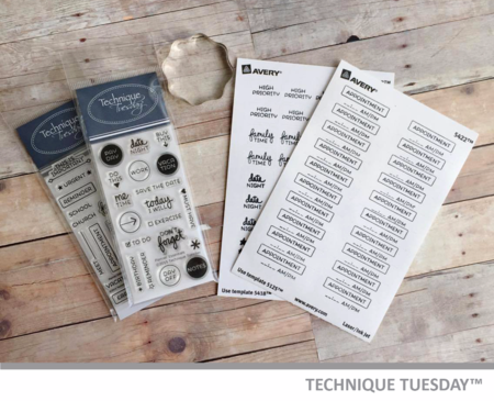 Planner stickers for Technique Tuesday from Ashley Gray // TechniqueTuesday.com