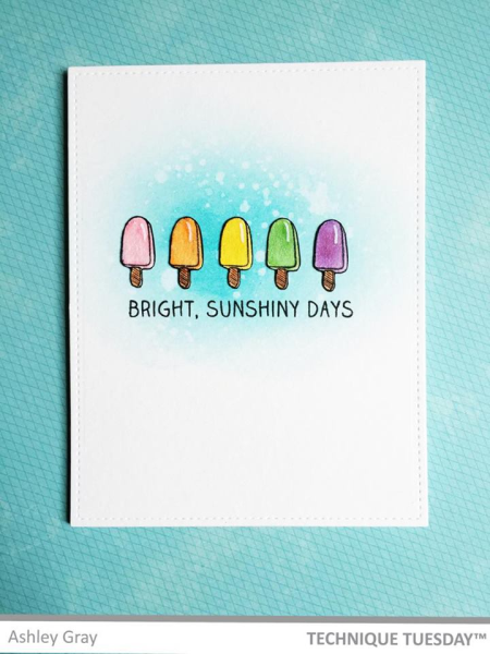 Sunshiny Days by Ashley Gray for Technique Tuesday // TechniqueTuesday.com