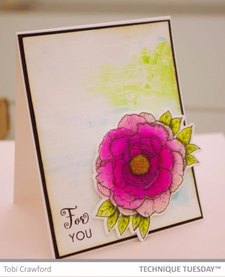 Handmade card by Tobi Crawford for Technique Tuesday // TechniqueTuesday.com
