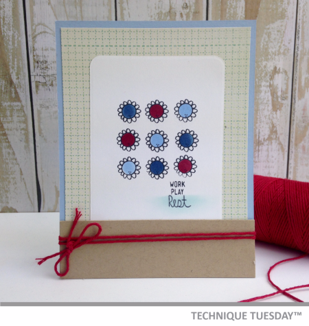 A handmade card for Technique Tuesday // TechniqueTuesday.com