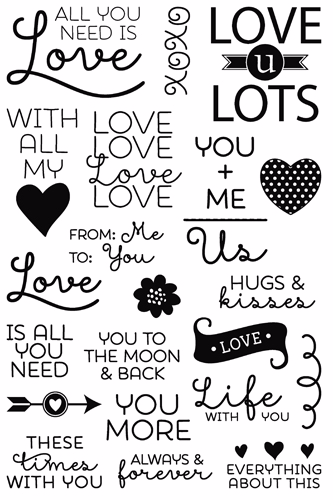 All You Need Is Love clear stamp set from Technique Tuesday // TechniqueTuesday.com