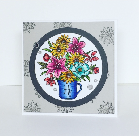 Hi Bouquet handmade card by Barb Engler for Technique Tuesday // TechniqueTuesday.com