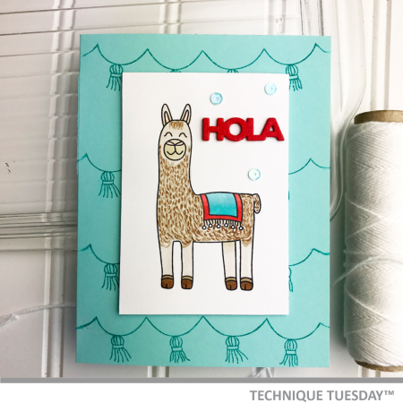 Hola-Llama-Handmade-Card-Ashley-H-Technique-Tuesday