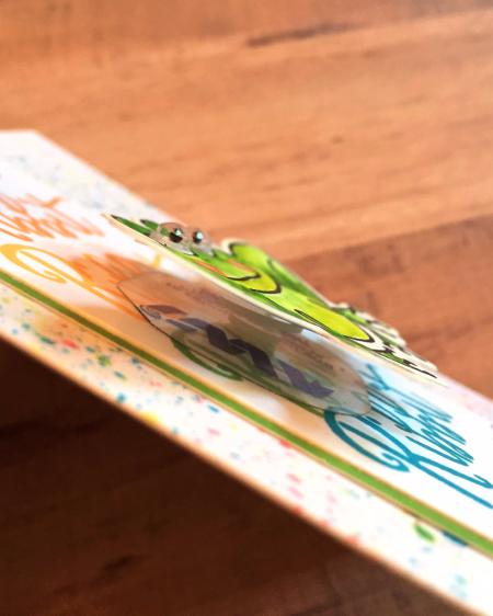 Rainbow Frog handmade card by Jana Millen for Technique Tuesday // TechniqueTuesday.com