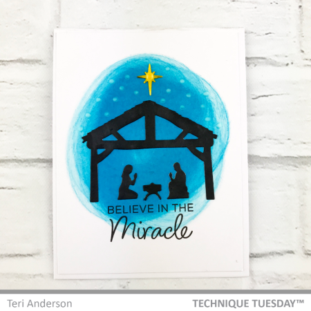 Believe-In-The-Miracle-Nativity-Handmade-Card-Teri-A-Technique-Tuesday