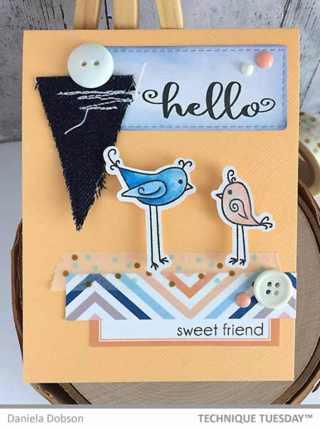 A handmade card by Daniela Dobson for Technique Tuesday // TechniqueTuesday.com