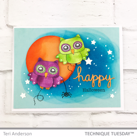 Happy-Halloween-Owls-Handmade-Card-Teri-A-Technique-Tuesday