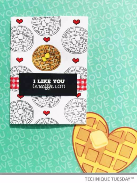 Waffle-Lot-Red-And-White-Handmade-Card-Jenn-B-Technique-Tuesday