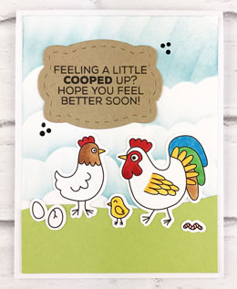 Cooped-Up-Chicken-Family-Card-Teri-A-Technique-Tuesday