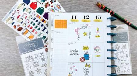 Planner Stickers and Stamps from Technique Tuesday // TechniqueTuesday.com